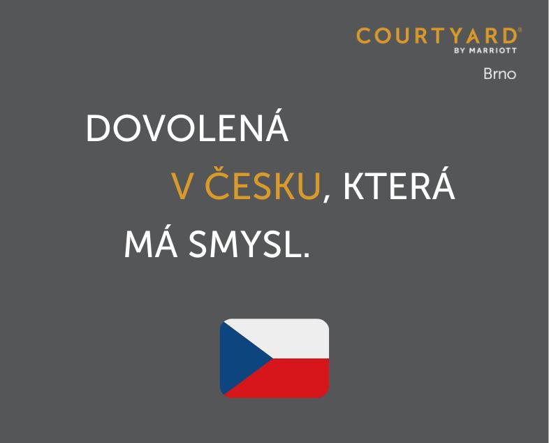 Dovolená v Česku, která má smysl -- s Courtyard by Marriott Brno.